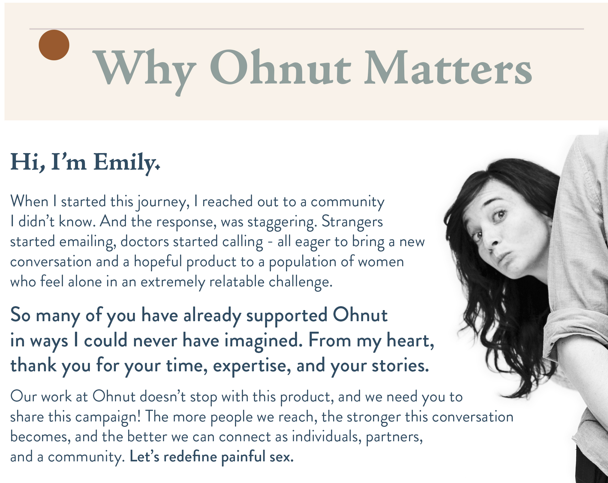 Ohnut An Intimate Wearable Redefining Painful Sex  Ifundwomen-7051