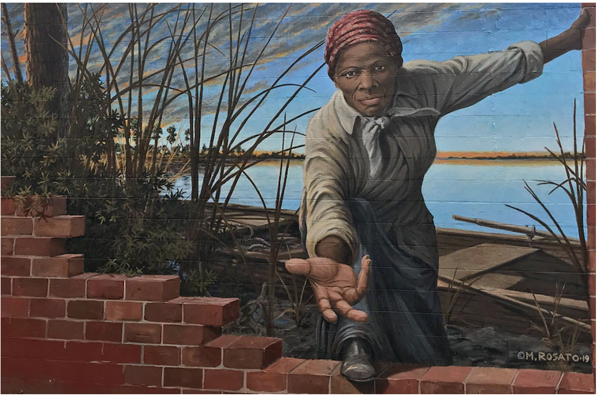 Harriet Tubman mural by Michael Rosato©