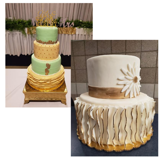Custom Cake Examples pictured