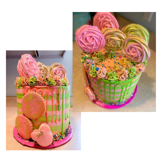 Macaron Creative Cake pictured