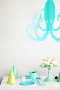 Chandelier by nk fun acrylic decor ifundwomen chandelier by nk turquoise octopus party aloadofball Choice Image