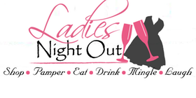 Ladies night out with dress and wine glass
