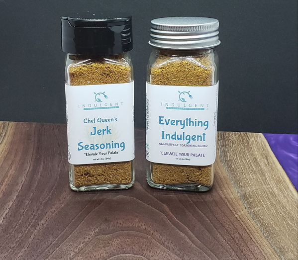 Indulge Essential Spices - Chef Queen's Jerk Seasonings & Everything Indulgent