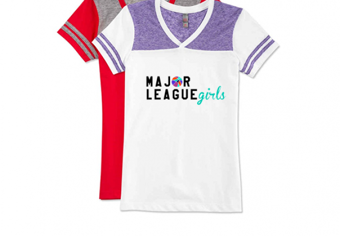 majorleague girls tee